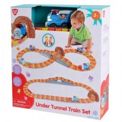 Tren infantil con vías