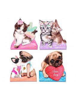 Top Model Bloc de notas Doggy + Kitty