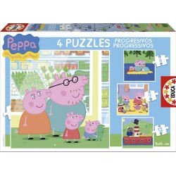 Puzle Progresivo Peppa Pig 6-9-12-16