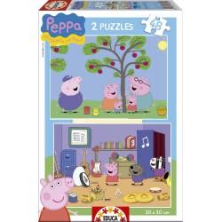 Puzle 2x48 Peppa Pig