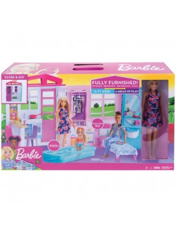 Barbie Casa portátil con piscina