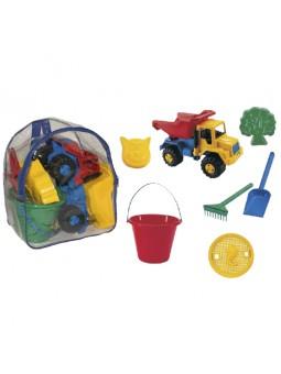 Mochila con camión y accesorios