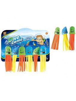 Set 6 medusas acuáticas