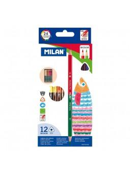 Caja 12 lápices bicolores...