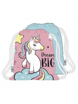 Gymbag Unicornio 44,5 x 38 cm