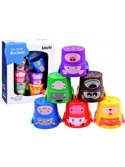 Set cubos apilables Zoo