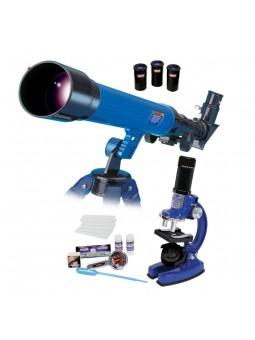 Pack microscopio y telescopio