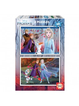 Puzzle 2x48 Frozen 2