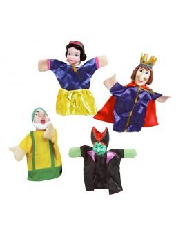 Caja 4 marionetas Blancanieves