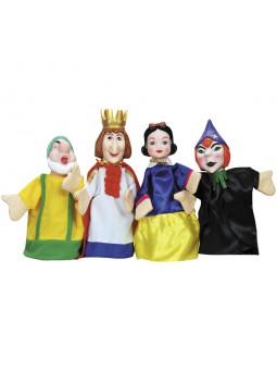 Pack 4 marionetas Blancanieves