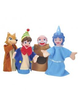 Pack 4 marionetas Pinocho