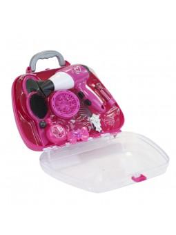 Maletín rosa con secador