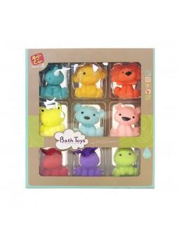 Caja con 9 animales baño
