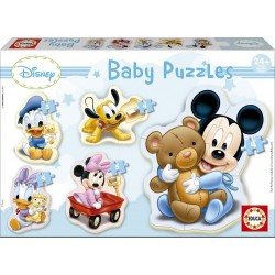 Puzzle silueta baby Mickey