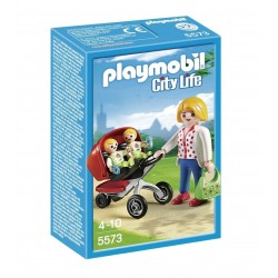 PLAYMOBIL® Mamá con Carrito de Gemelos