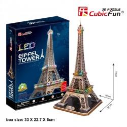 Torre Eiffel Puzzle 3D LED