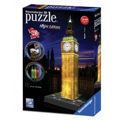 Puzzle 3D Buildings Big Ben con luz