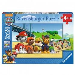 Puzzle 2x24 piezas Paw Patrol