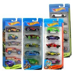 Hot Wheels Pack de 5 vehículos