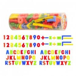 Tubo letras magnéticas 86 piezas