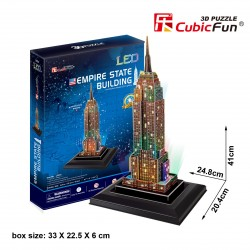 Empire State Building Puzzle 3D LED