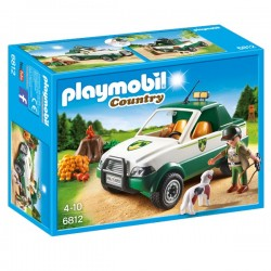 Playmobil guardabosques con pick up