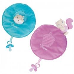 Mantita soft Cuddles rosa/azul